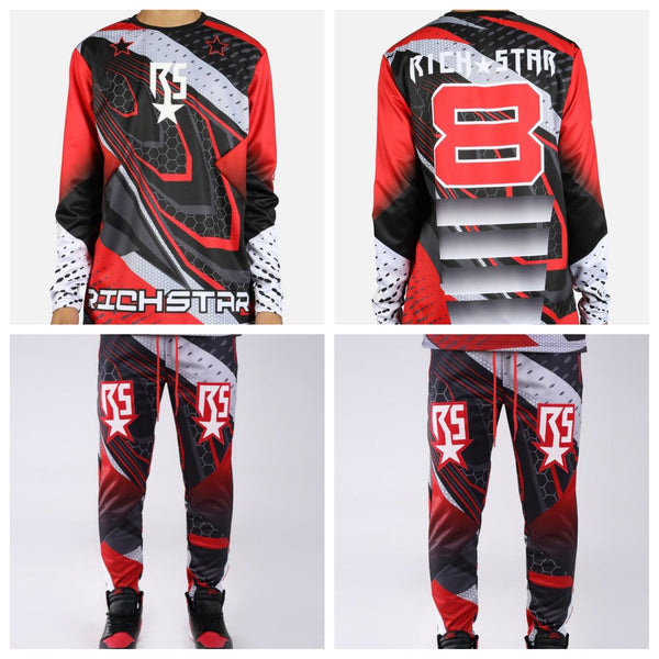 Moto richstar set (red and black)