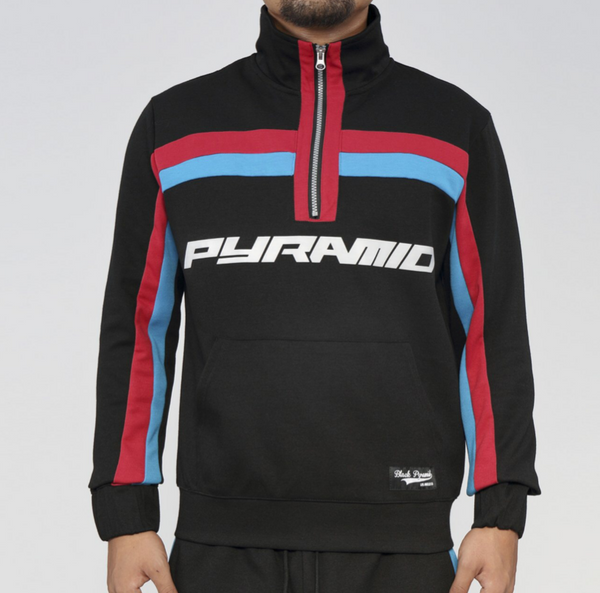 2 stripe track suit (black)