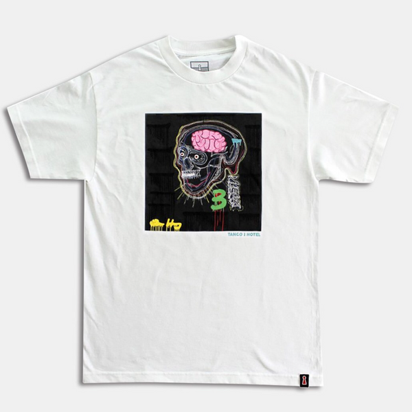 BRAINS SS TEE (White)