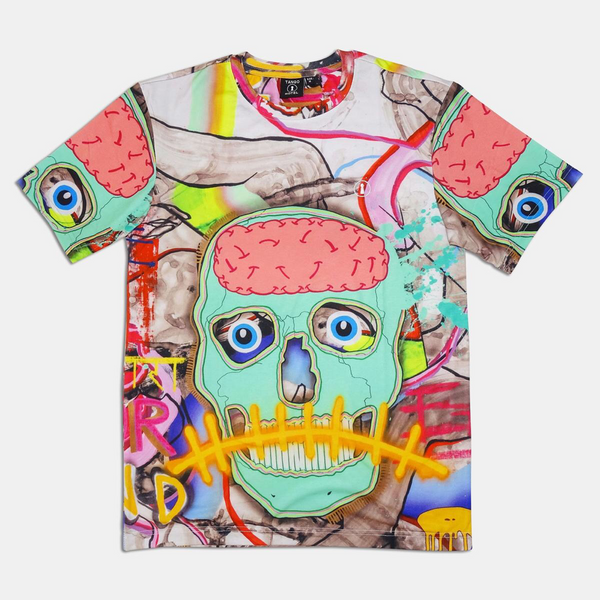Teal Skull All Over Tee