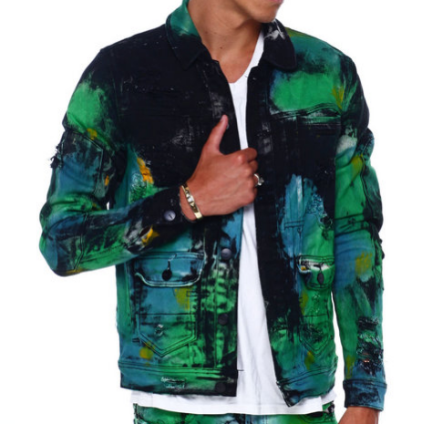 Green Fiji Denim Jacket