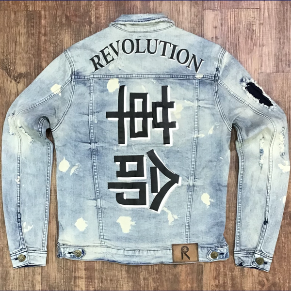 """Revolution"" denim jacket (light blue wash)"