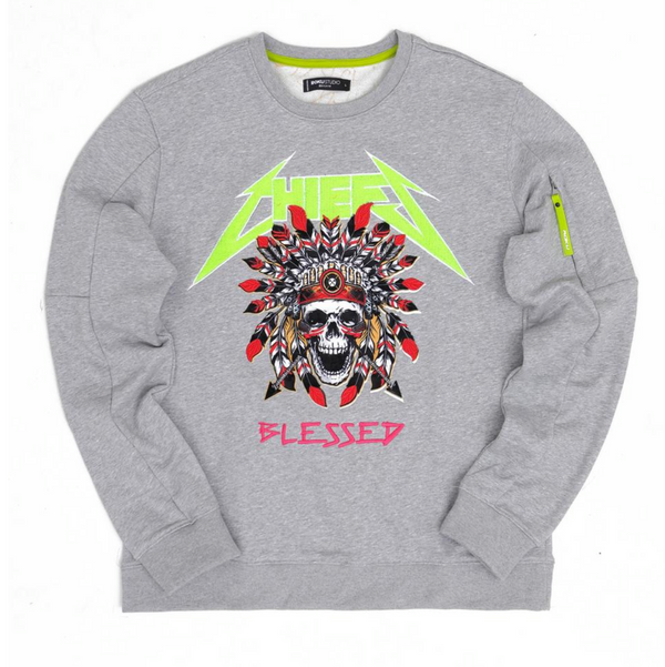 Chiefs blessed crewneck (heather grey)