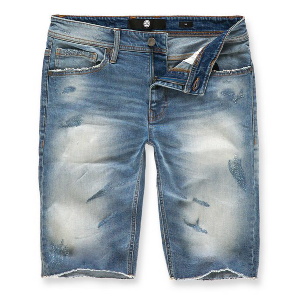 EDISON DENIM SHORTS (AGED WASH) J3145S