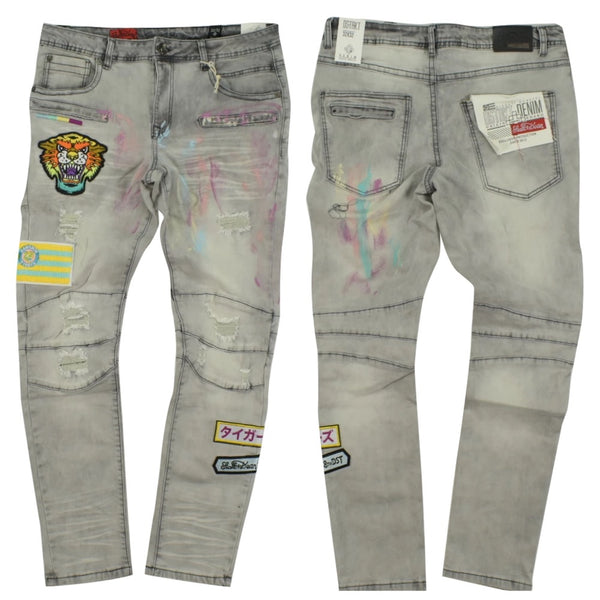 Osaka tigers Denim pants (grey)
