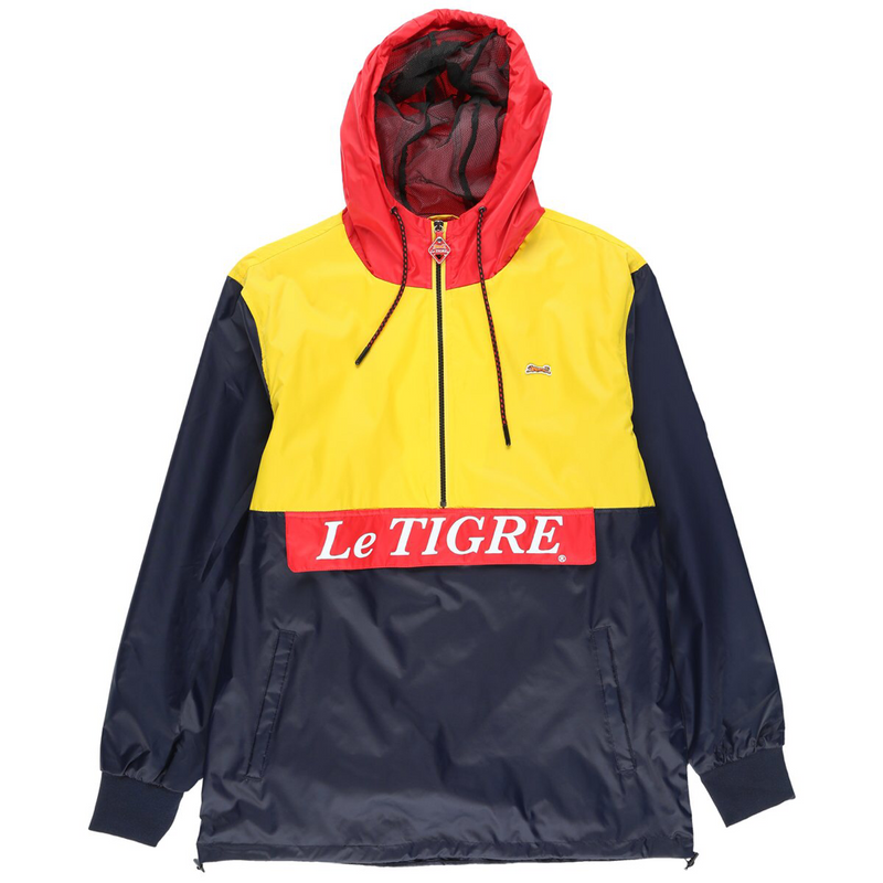 Color Block pullover (navy/Ylw/red)