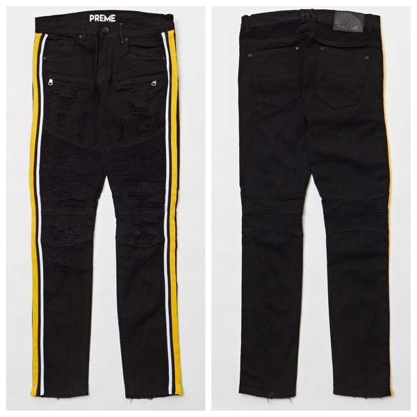 Black and yellow jeans