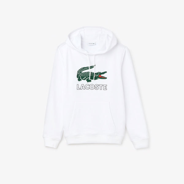 Men's Hooded Fleece Sweatshirt (White)