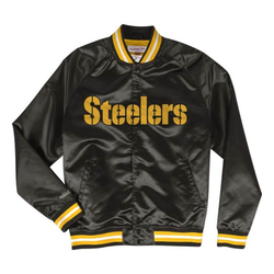 Lightweight Satin Jacket Pittsburgh Steelers Youth