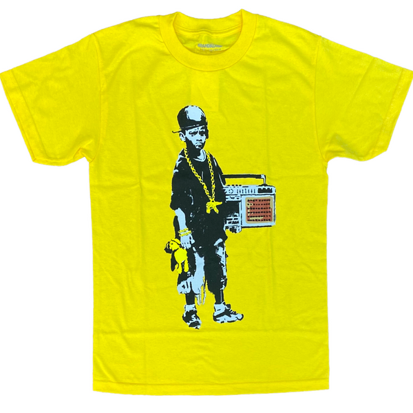 Boy with a teddy tee (yellow)