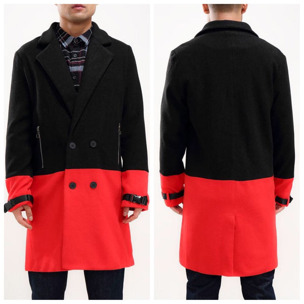 HALF WAY THERE CAR COAT (black/red)