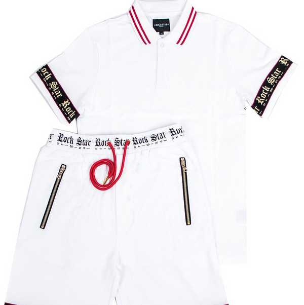 Erno polo & short set (White)