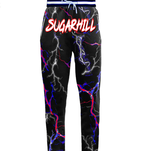 BLACK/BLUE/RED TRACK PANTS