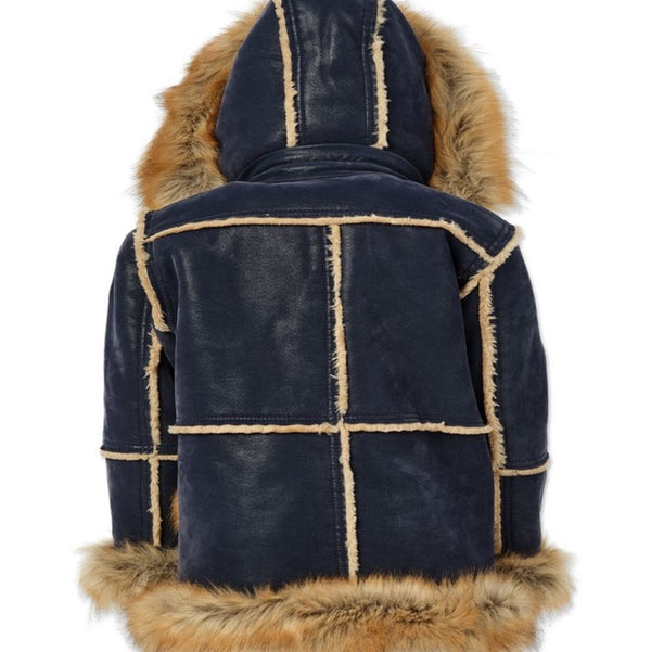 Aspen shearling jackets kids/youth(Midnight blue)