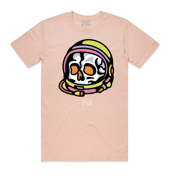 Astro skull tee (pale pink)