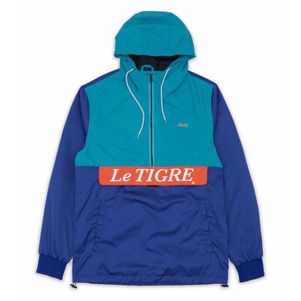 Color block pullover (Turquoise/blue/Orange)