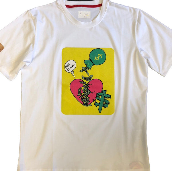 Remedy Velvet Flocking Tshirts Yellow (White)