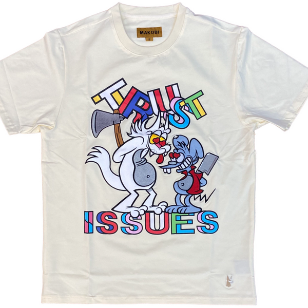 Trust issues tee (Off-white/beige)