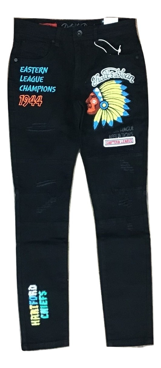 Hartford chiefs denim pants(Black)