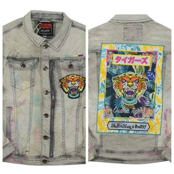 Osaka tigers denim jacket (Grey)