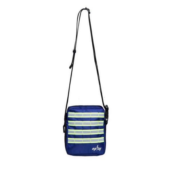 Reflective tactical shoulder bag (blue)