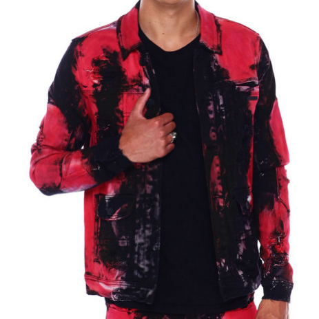 Red Hawaii Denim Jacket