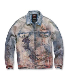 Fuji denim jacket (blue wave)