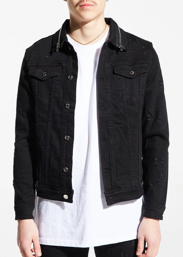 Parker denim jacket w/ zippers (black)