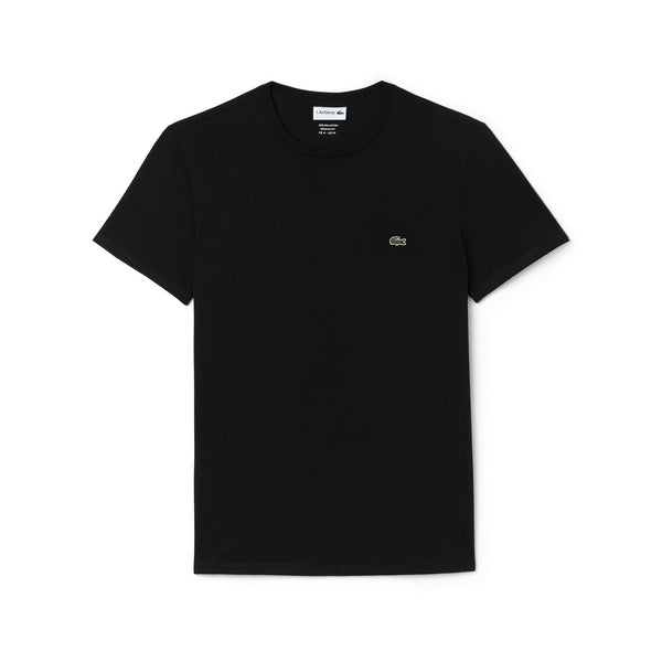 Men's Crew Neck Pima Cotton Jersey T-shirt (BLACK)