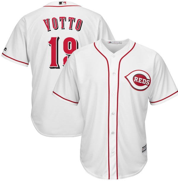 Majestic Joey Votto White Cincinnati Reds Official Cool Base Player Jersey