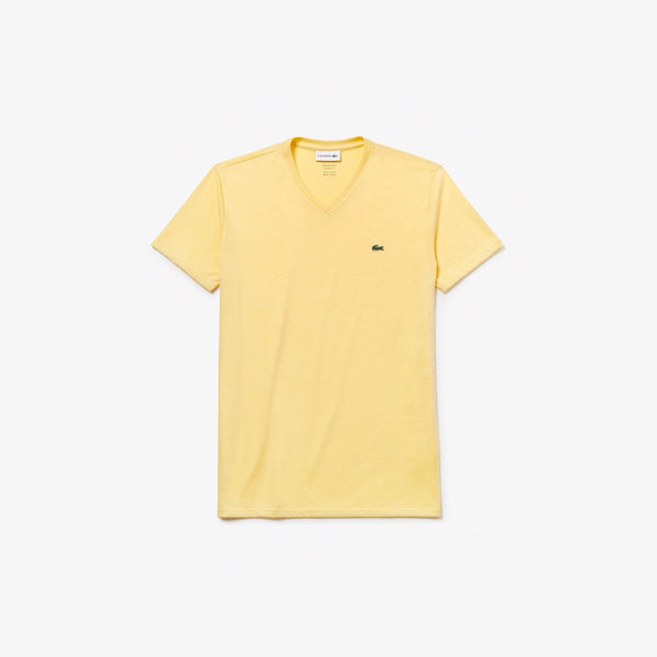 Men's V-neck Cotton T-shirt (YELLOW)