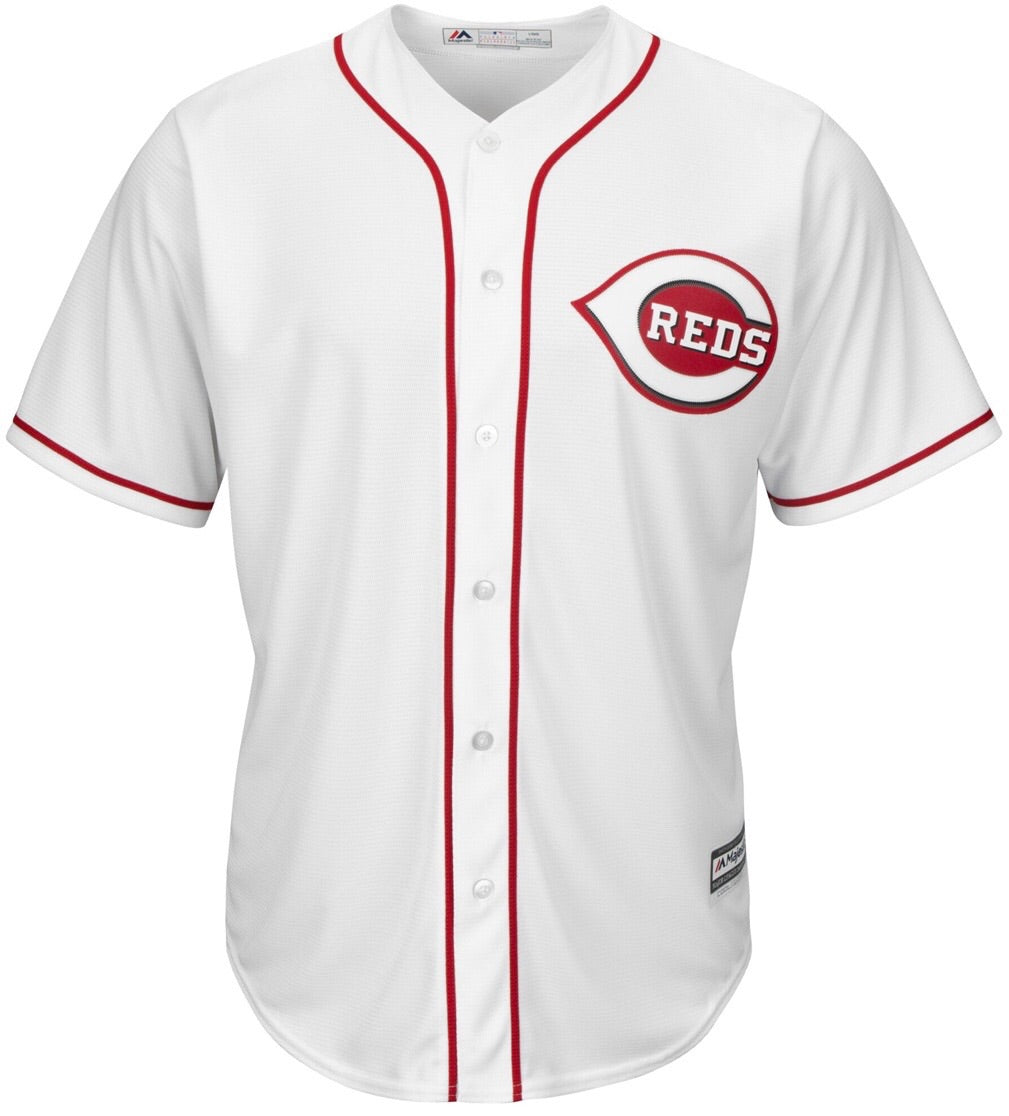 the best attitude b4138 2b755 Majestic Joey Votto White Cincinnati Reds Official Cool Base Player Jersey