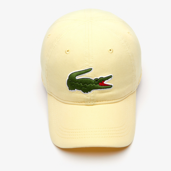 Men's big croc gabardine cap (Napolitan yellow)