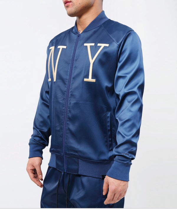 NY Satin track jacket (Navy)