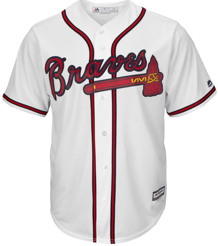 Majestic White Atlanta Braves Big & Tall Cool Base Team Jersey