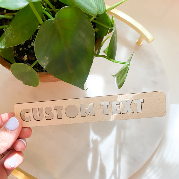 Custom Text Bookmark