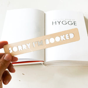Sorry I'm Booked Bookmark