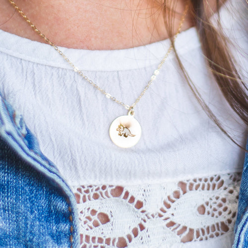 worthy + badass gold fill necklace