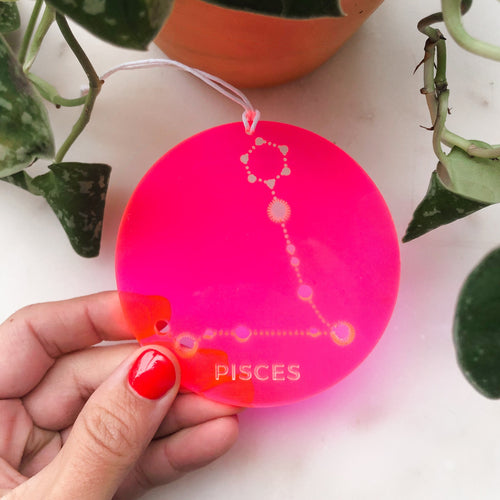 Custom Acrylic Zodiac Sign Ornament