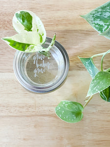 Mason Jar Toppers (Closed Hole)