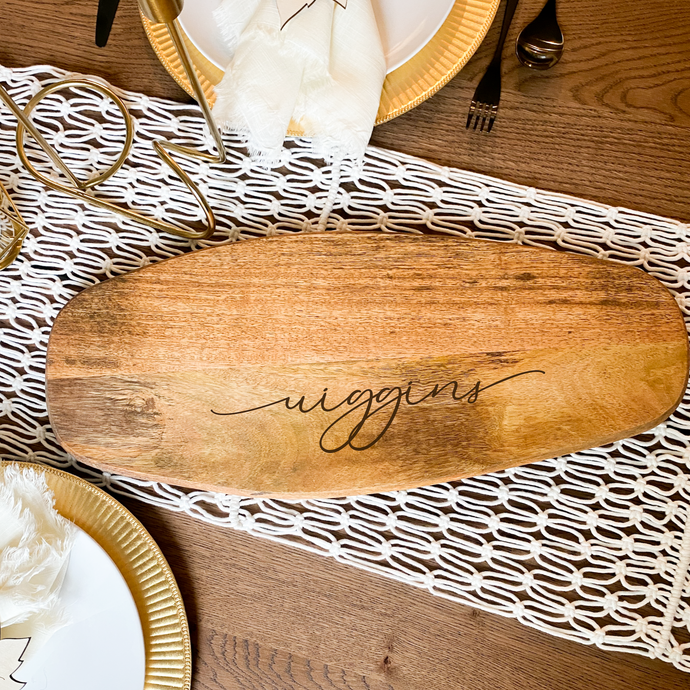 Custom Name Serving Board | Large Mango Wood Board