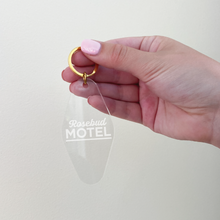 Load image into Gallery viewer, Acrylic 'Rosebud Motel' Keychain