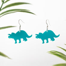 Load image into Gallery viewer, Acrylic Triceratops Earring