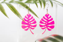 Load image into Gallery viewer, Acrylic Monstera Earring