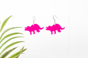 Acrylic Triceratops Earring