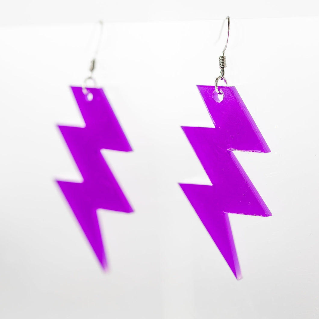 Acrylic Lightning Bolt Earring