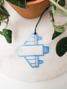 Acrylic Rocket Ship Ornament