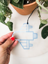 Load image into Gallery viewer, Acrylic Rocket Ship Ornament