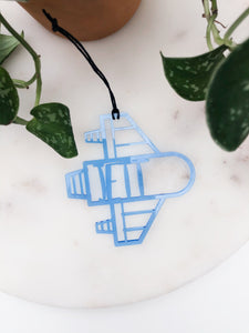 Custom Name Rocket Ship Ornament