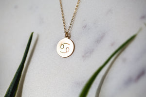 Zodiac Sign Custom Stamped Necklace